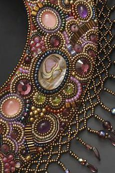 Royal Neckpiece by Irina Rudneva (detail)